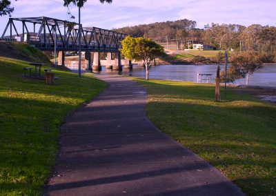 Riverside walking trail